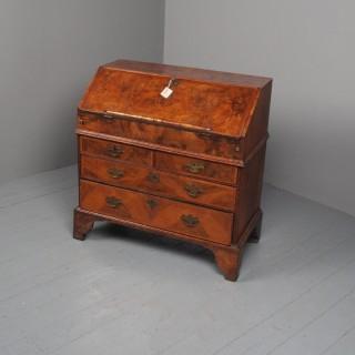 Antique George I Figured Walnut Bureau