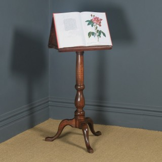 Antique English Georgian Oak Country Duet Music & Book Stand Lectern (Circa 1790)