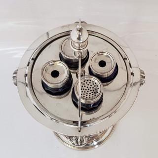 George III Old Sheffield Plate Globe Inkstand