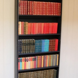 Tall Painted Oak Open Bookcase
