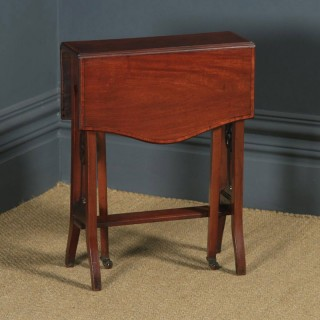 Small Antique English Edwardian Sutherland Mahogany Occasional / Side Table (Circa 1901)