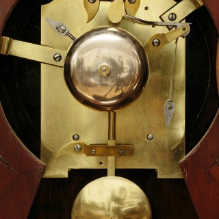 William IV Mahogany Bracket Clock with Original Wall Bracket