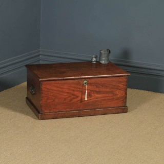 Antique English Georgian Oak & Elm Trunk Blanket Box / Chest / Coffee Table (Circa 1810)