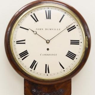Drop Dial Fusee Wall Clock by John Dumville, Cambridge