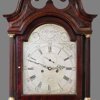 Georgian Mahogany Longcase Clock by Thomas Morgan, Edinburgh