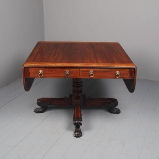 Large Antique George III Mahogany Sofa Table