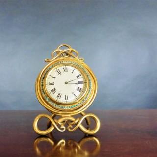 Gilded Brass French Strut Mantel Clock