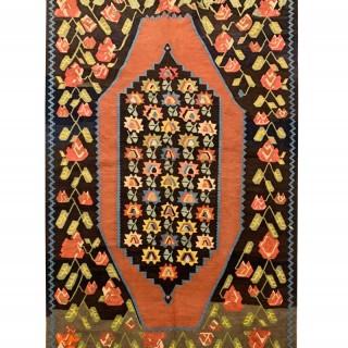 Antique Caucasian Karabagh Kilim Rug 1920- 143x217cm