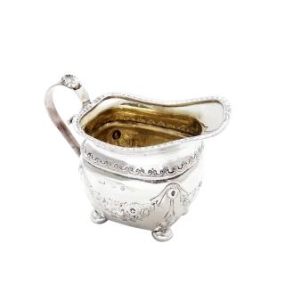 Antique Victorian Sterling Silver Jug 1892