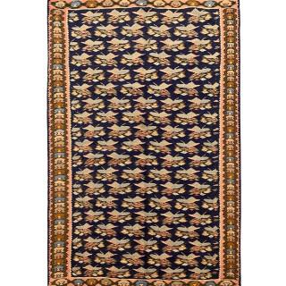 Handmade Persian Kurdish Senneh Rug- 108x158cm
