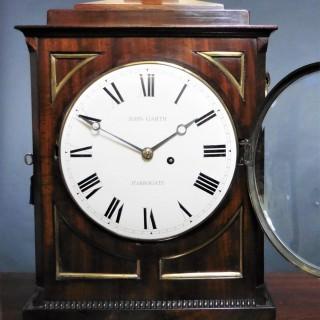 Regency Mahogany Bracket Clock by John Garth, Harrogate