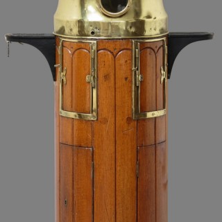 Edwardian Mahogany Ships Binnacle