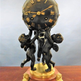 19th Century Ormolu and Bronze Mantel Clock