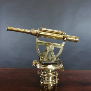 19th Century Lacquered Brass Theodolite by S.P.Cohen, Glasgow