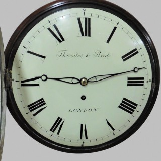 Regency Small Mahogany English Dial Clock by Thwaites and Reed, London