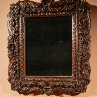 William and Mary Walnut Mirror, Circa: 1700.