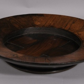 Antique Treen Early 19th Century Rosewood Offertory Dish