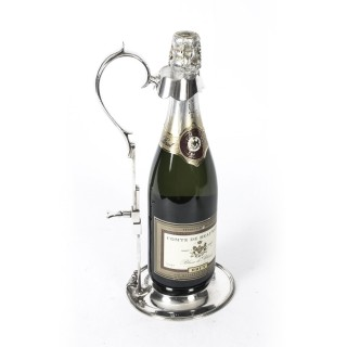 Antique Silver Plated Wine Champagne Pourer By Walker & Hall Circa 1880