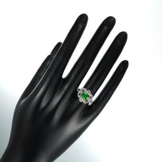 An Edwardian Demantoid Garnet and Diamond Ring, Circa 1915