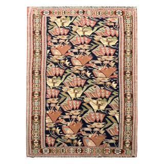 Handwoven Persian Wool Kurdish Antique Rug- 143x230cm