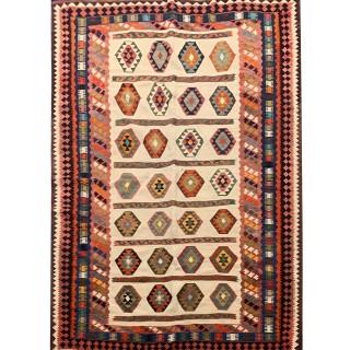 Handwoven Persian Qashqai Wool Antique Rug- 170x280cm