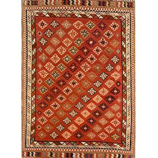 Persian Qashqai Handwoven Wool Antique Rug- 170x258cm