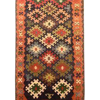 Handwoven Wool Persian Varamin Rug- 125x380cm