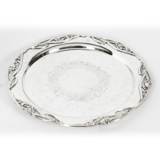 Antique Silver Plated Salver by William Hutton & Son 19th C