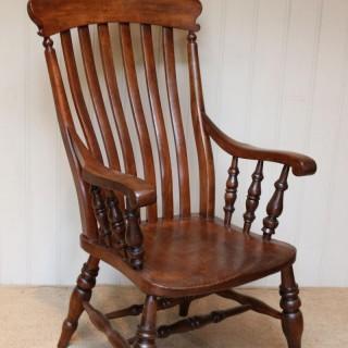 Substantial Beech And Elm Farmhouse Chair