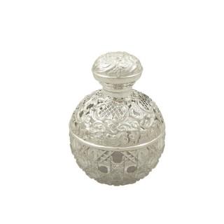 Antique Edwardian Sterling Silver Perfume / Scent Bottle 1905