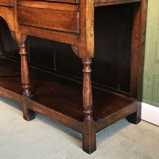 George III Oak Welsh Dresser and Rack