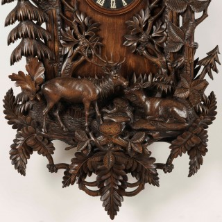 A Magnificent Black Forest Wall Clock