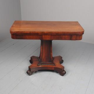 Antique William IV Rosewood Fold-Over Tea Table