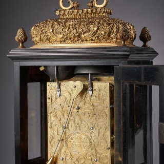 17th Century William and Mary Ebony Eight-Day table clock by James Markwick
