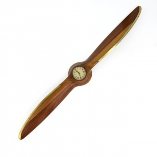 1935 De Havilland wooden Gipsy VI Propeller and clock