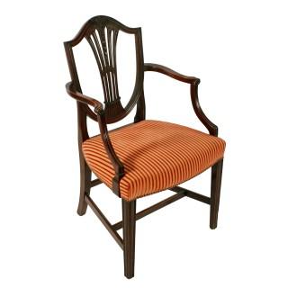 Hepplewhite Style Elbow Chair