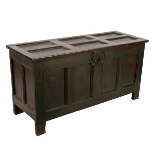 Late 17th Century  Oak Dower Chest