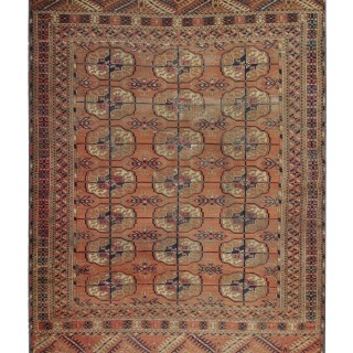 Handwoven Central Asian Bukhara Rug Traditional Wool Carpet- 110 x157cm