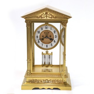 Architectural French Four-glass Clock, c.1860