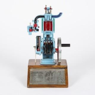 cutaway demonstration model of a 4 stroke engine