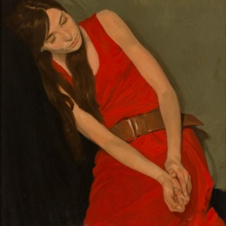 'Red Dress' by Neale Worley RP NEAC (born 1962)