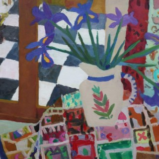 'Irises' by Mungo Powney (born 1972)