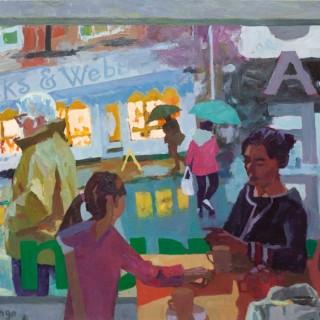 'The Café' by Mungo Powney (born 1972)