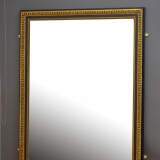 Large 19th Century Gilded and Ebonised Mirror H176