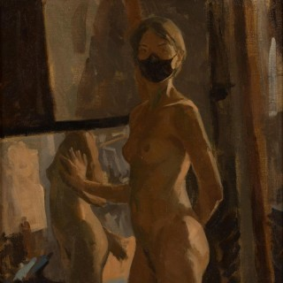 'Covid Nude' by Neale Worley RP NEAC (b. 1962)