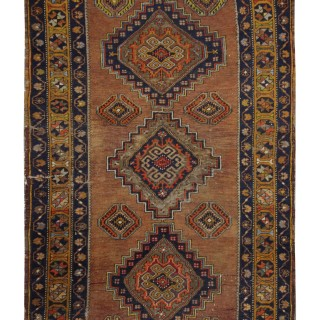 Antique Handwoven Persian Kurdish Wool Rug- 108x175cm