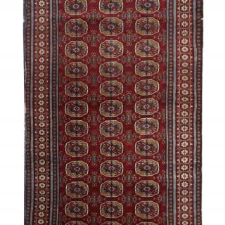 Antique Handwoven Central Asian Rug Oriental Wool Carpet- 94x170cm