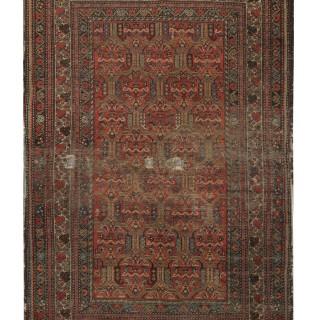 Antique Persian Malayer Carpet  Handmade Red Wool Rug- 130x196cm