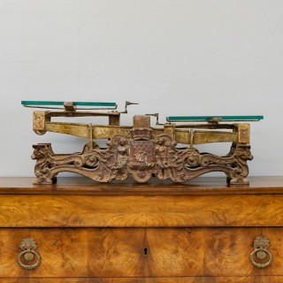 Cast Iron and Bronze Weighing Scales