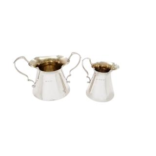 Antique Edwardian Sterling Silver 'Milk Churn' Jug & Bowl 1904